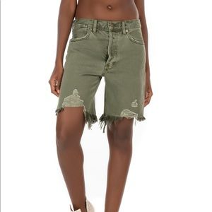 NWT Free People Sequoia Forest Green Shorts, 26